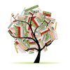 Dolores Public Library Book Tree Logo