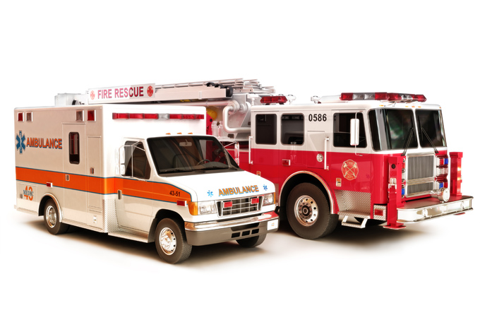 Fire truck and Ambulance